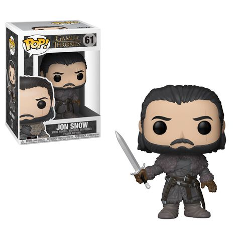 Figurine Funko Pop! N°61 - Game of Thrones - Série 8 Jon Snow au-delà du mur