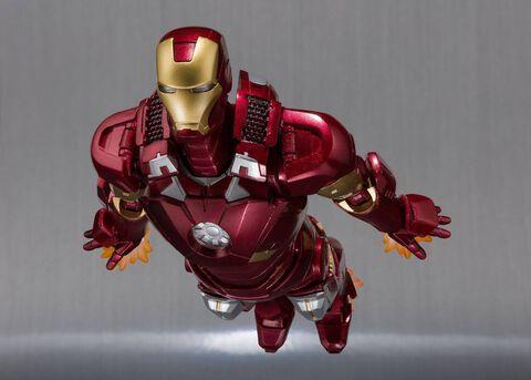 Figurine S.h Figuarts - Iron Man 3 - Iron Man Mark VII et Hall of Armor Articulé