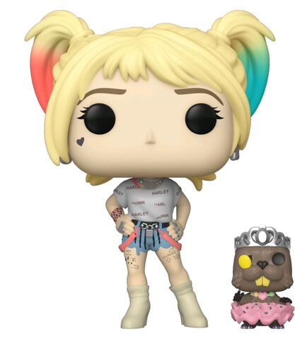 Figurine Funko Pop! N°308 - Birds Of Prey - Harley Quinn Et Castor