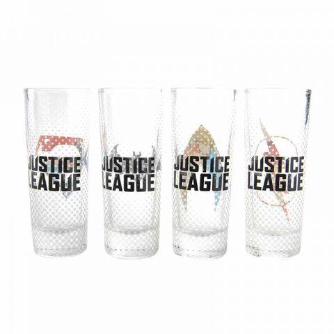 Verre - Justice League - Set de 4 petits