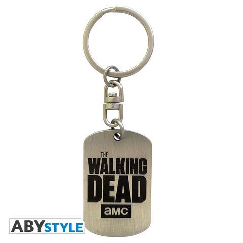 Porte-clés - The Walking Dead - Plaque Militaire Logo