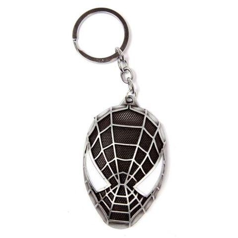 Porte-clés - Spider-Man - Tête noire en métal