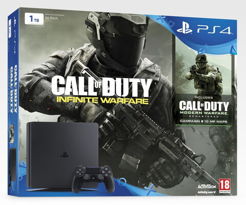 Pack PS4 Slim 1 To + Call of Duty : Infinite Warfare Edition Legacy (BR) + Modern Warfare Remastered (jeu en DLC)