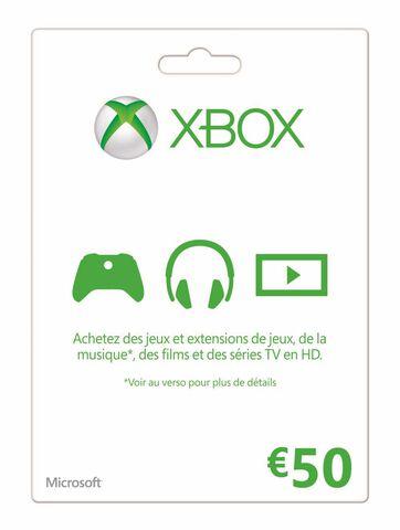 Carte Xbox Live 50 euros