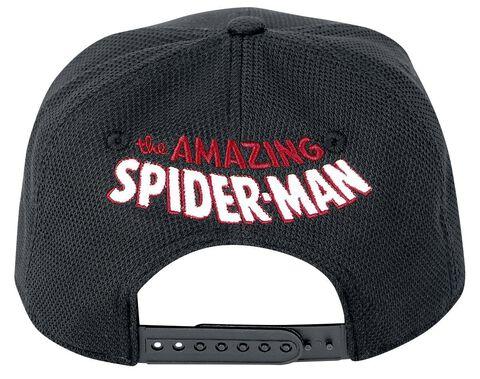 Casquette - Spider-man - Araignée Rouge Sur Fond Noir