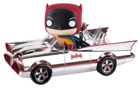Figurine Funko Pop! N°01 - Batman - Batmobile Chrome 1966 Ride (exclu Ugt Sdcc)