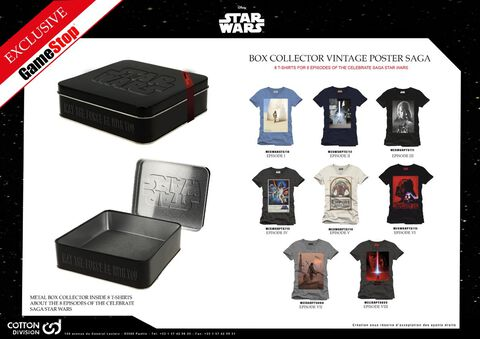 Coffret - Star Wars - 8 T-shirts - Taille L - Exclusif Micromania