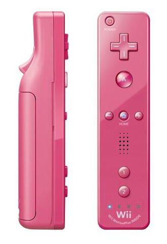 Telecommande Wii Plus Rose