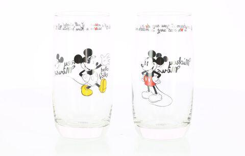 Verre - Mickey Mouse - Set de 2 Mickey