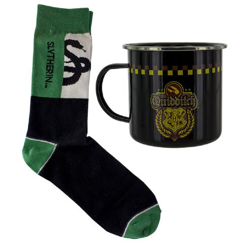 Coffret - Harry Potter - Mug Quidditch et Chaussettes Serpentard