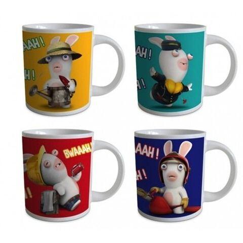Mugs Coffret X4 Lapins Cretins