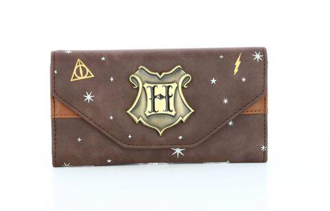 Portefeuille - Harry Potter - marron avec logo en métal