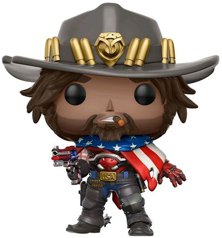 Figurine Funko Pop! N°182 - Overwatch - USA Mccree - Exclusivité Micromania-Zing