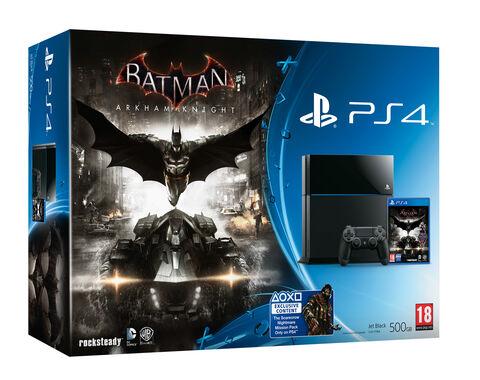 Pack PS4 500 Go Noire + Batman : Arkham Knight