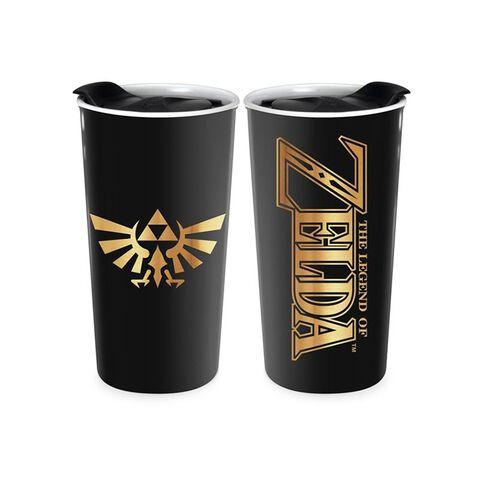 Mug de voyage - Zelda - Céramique noir et or