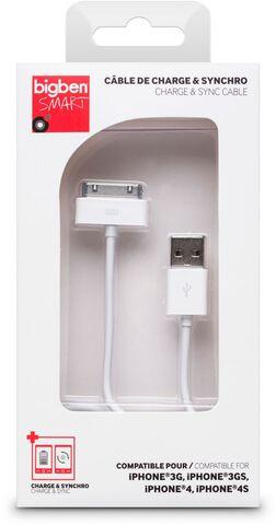 Cable De Charge Et De Synchronisation Blanc 1a