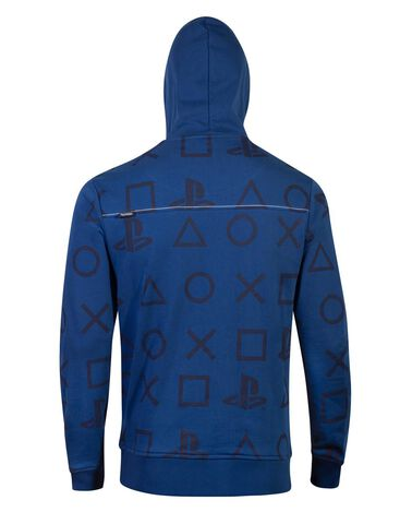 Sweat A Capuche - Playstation - Aop Icons - Taille Xl
