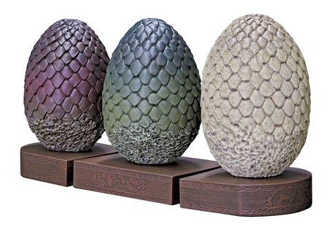 Statuette Game Of Thrones Serre Livres Oeufs De Dragon 18 Cm