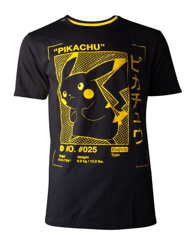 T-shirt - Pokémon - Pikachu Profile Men's - Taille M