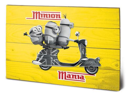Panneau En Bois - Minion Mania Yellow