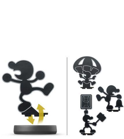 Figurine Amiibo N°45 Smash Mr Game & Watch
