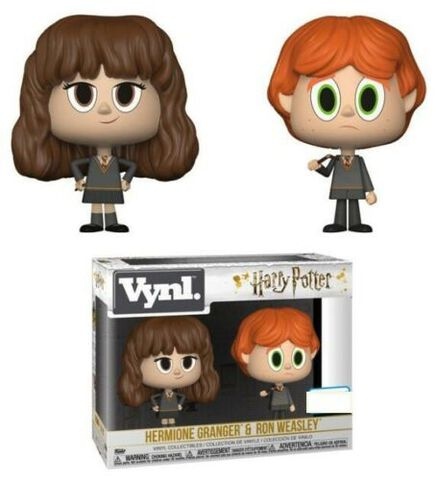 Figurine Vynl - Harry Potter - Twin Pack Hermione et Ron avec baguette cassée