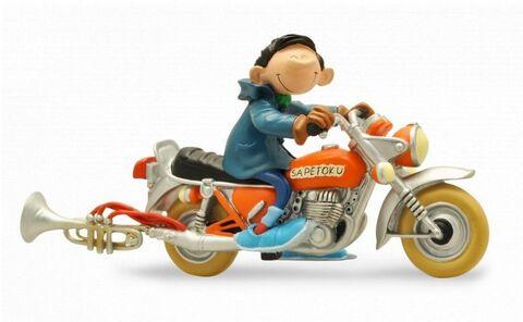 Statuette - Gaston - Gaston et la moto Sapetoku