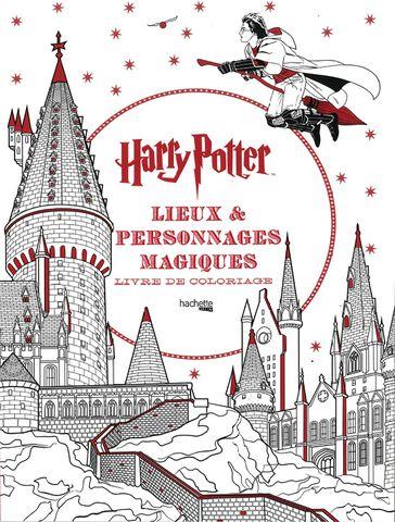 Livre - Harry Potter - Lieux et personnages magiques coloriage