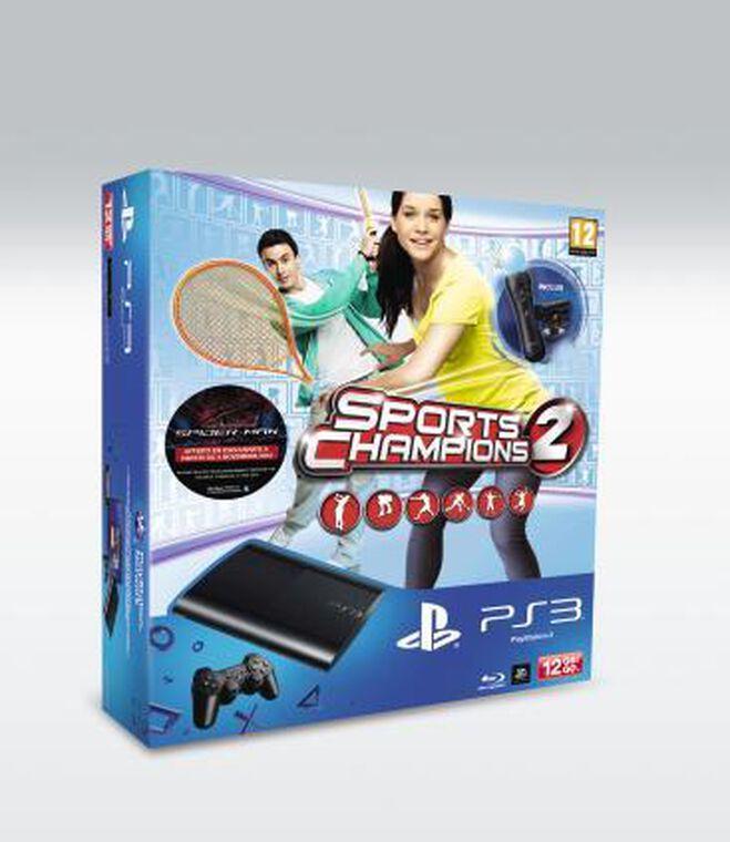 Pack Ps3 12 Go Noire + Sports Champions 2 + Pack Découverte Move
