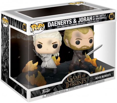 Figurine Funko Pop! - Game Of Thrones - Daenerys Et Jorah Dos à Dos Avec épées