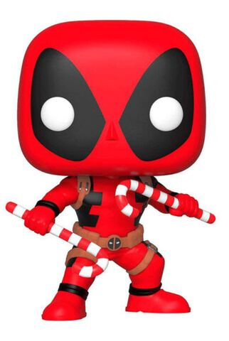 Figurine Funko Pop! N°400 - Marvel - Holiday Deadpool avec canne à sucre