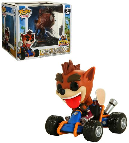 Figurine Funko Pop! Ride N°64 - Crash Bandicoot - Crash Karting
