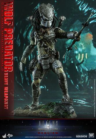 Statuette Hot Toy - Alien Vs. Predator Requiem - Wolf Predator 1/6