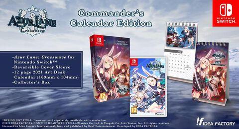 Azur Lane Cross Wave Coommander's Calendar Edition