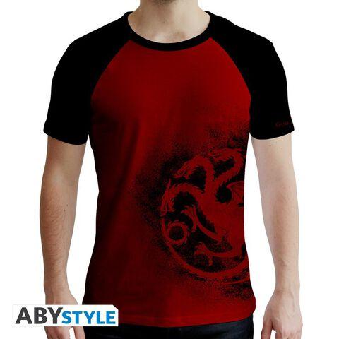 T-shirt - Game of Thrones - Targaryen Rouge et Noir Premium - Taille L
