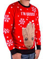 Sweat De Noël - Marvel - Baby Groot Rouge - Taille M