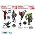Stickers - Marvel - 2 Planches Avengers 16x11 Cm