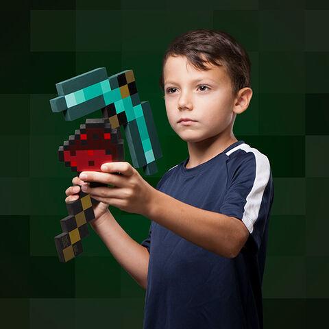 Jouet - Minecraft - Pioche avec poudre de Redstone
