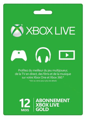 Xbox Live 12 mois Xbox 360 - Xbox One