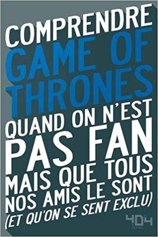 Livre - Comprendre Game of Thrones