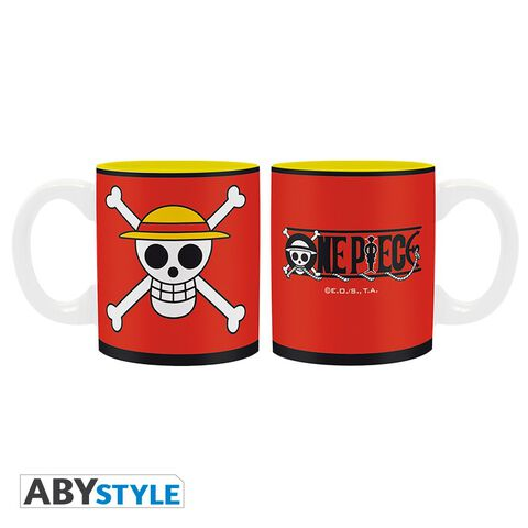 Coffret - One Piece - Verre 29 cl + Porte-clés PVC + Mini Mug Luffy