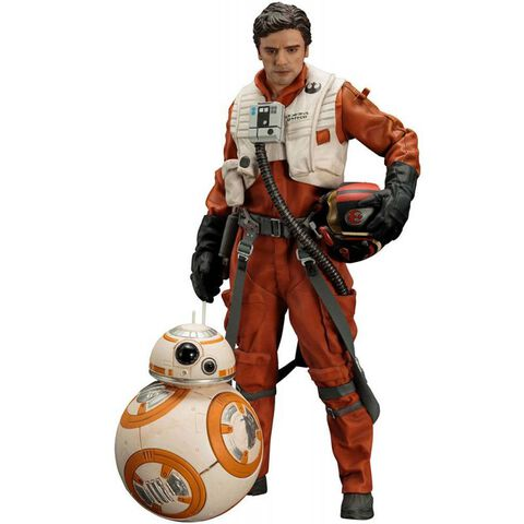 Figurines Kotobukiya - Star Wars Force Aw - Poe Dameron et BB-8