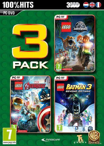 Lego Box (jurassic World + Marvel Avengers + Batman 3)