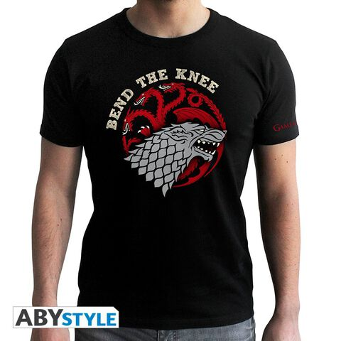 T-shirt - Game of Thrones - Bend The Knee - Taille L