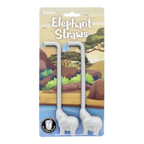 Pailles - Eléphants - Set de 2