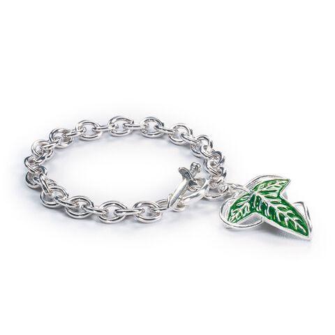 Bracelet - Le Seigneur Des Anneaux - Feuille De La Lorien ( Argent )