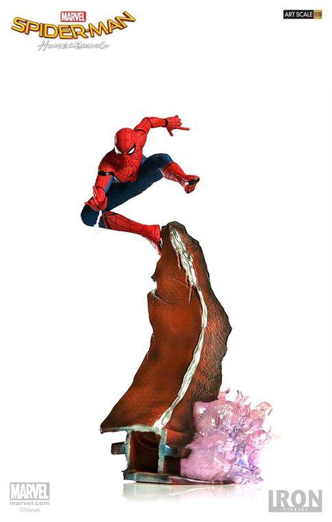Statuette Iron Studios - Spider-Man Homecoming - Spider-Man Battle Diorama Scene