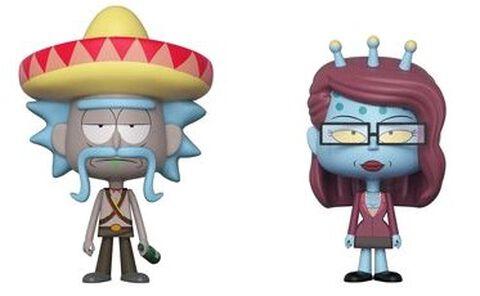 Figurine Vynl - Rick et Morty - Rick avec sombrero et Unity