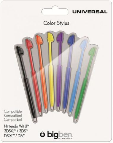 Pack 8 Stylus Wii U - 3ds - 3ds Xl - Ds Xl - Dsi