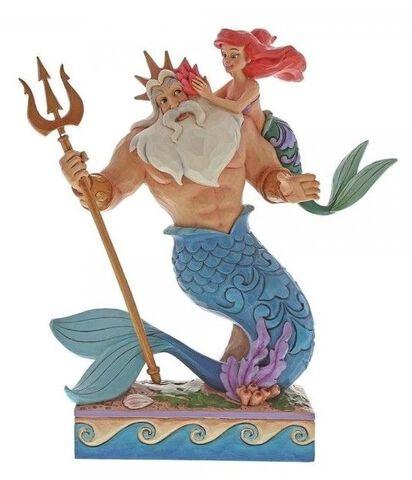 Figurine Disney Tradition - La Petite Sirene - Ariel Et Triton